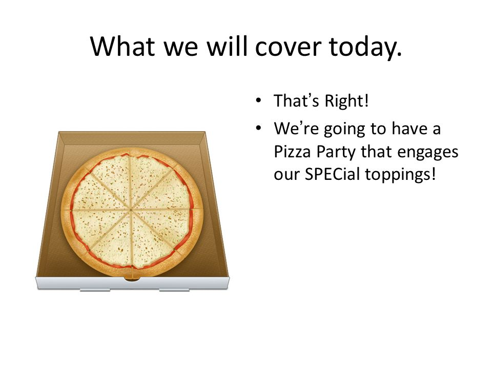 What we will cover today.