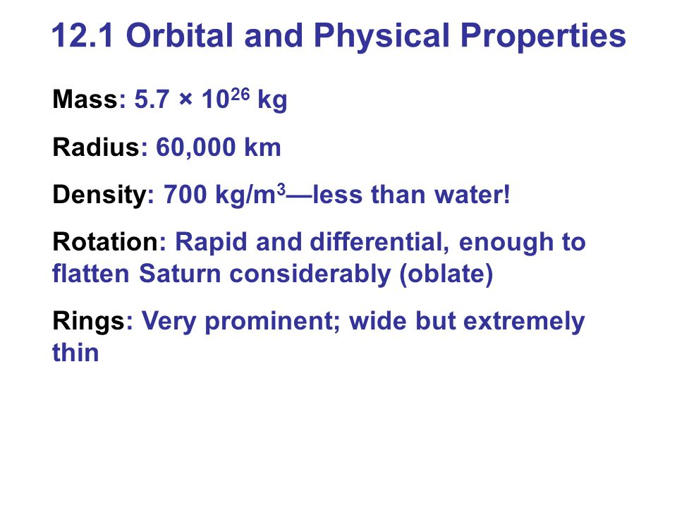 12.1 Orbital and Physical Properties