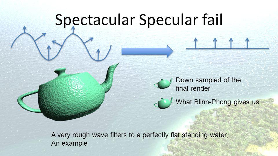 Spectacular Specular fail