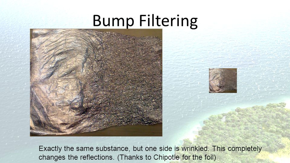 Bump Filtering Confirm with imperical data.