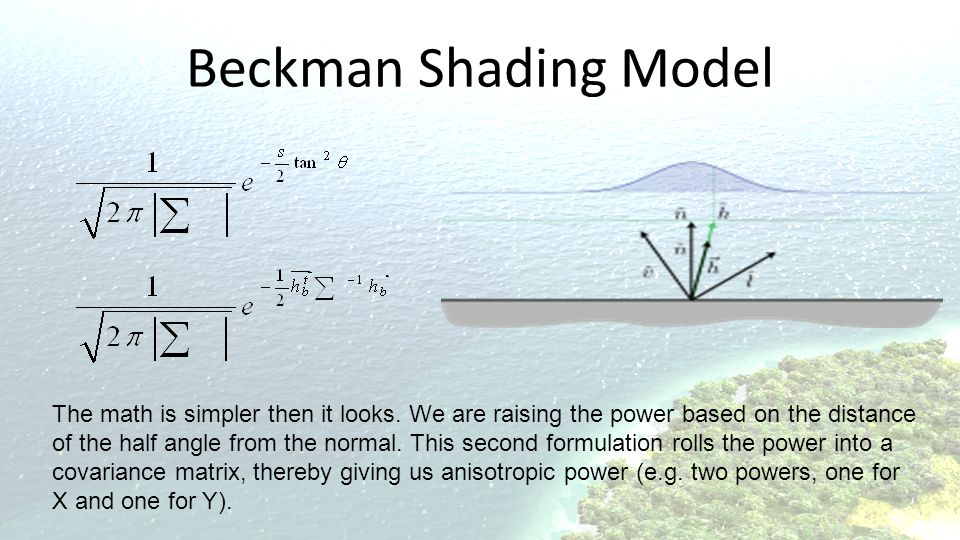 Beckman Shading Model