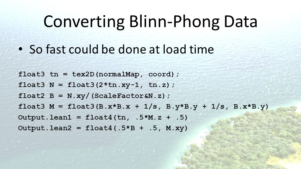 Converting Blinn-Phong Data