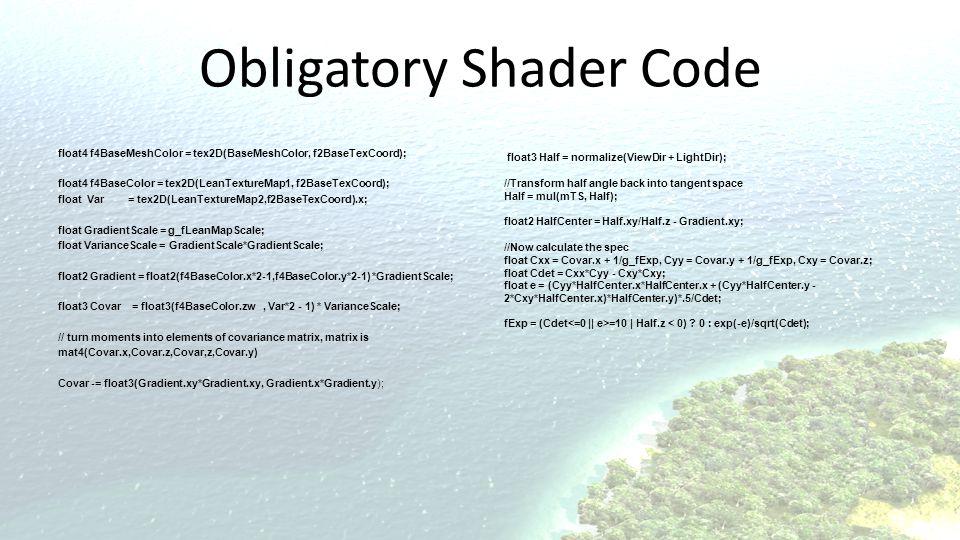 Obligatory Shader Code
