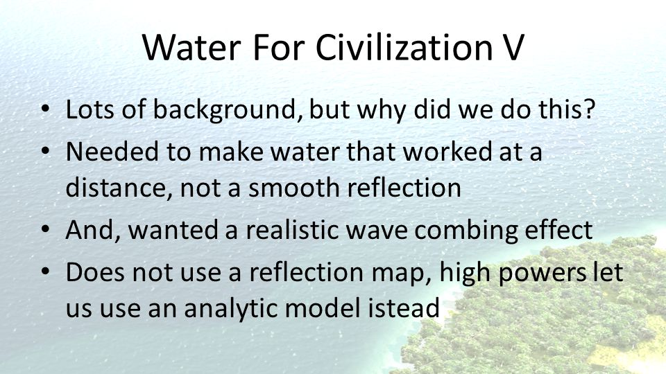 Water For Civilization V