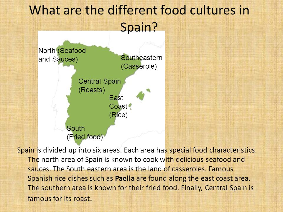 What are the different food cultures in Spain