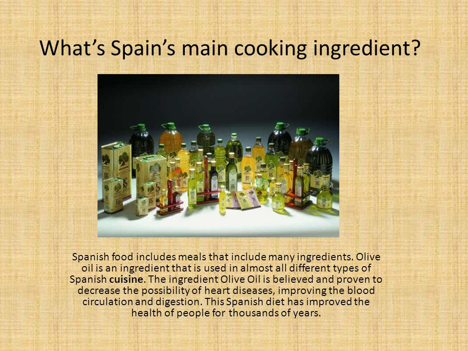 What's Spain's main cooking ingredient