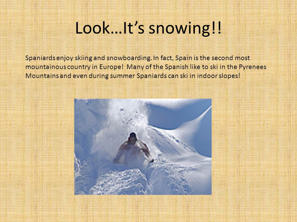 Look…It's snowing!!
