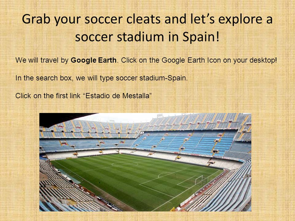 Grab your soccer cleats and let's explore a soccer stadium in Spain!
