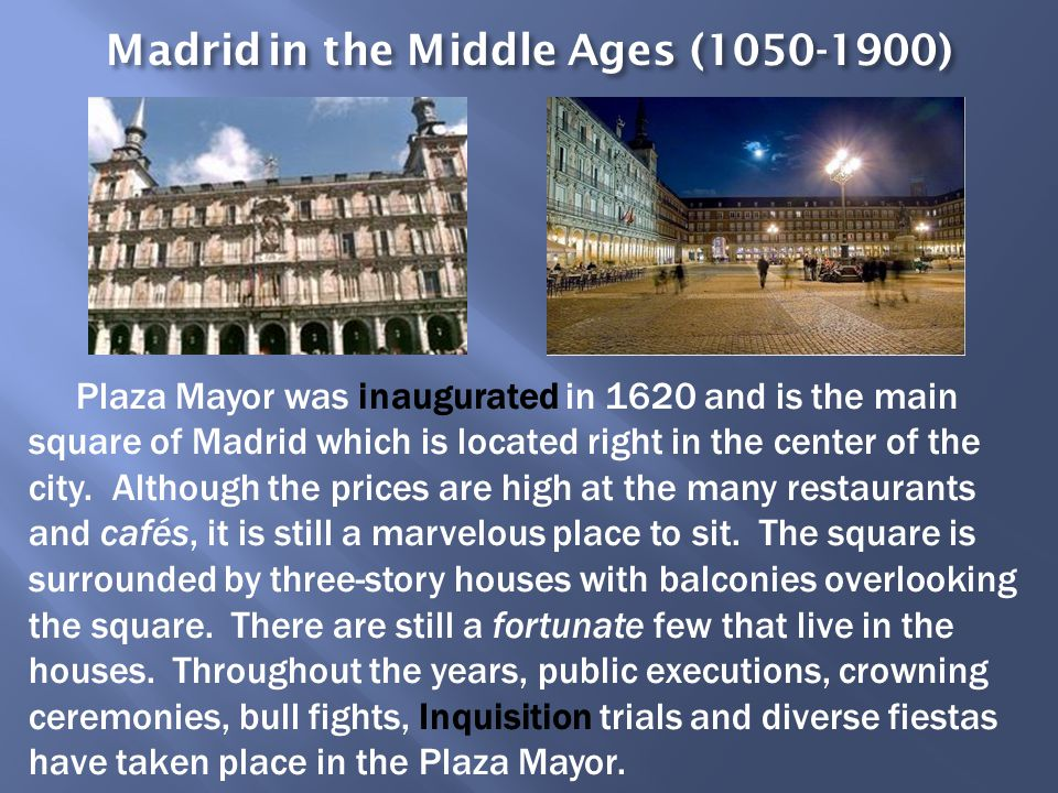 Madrid in the Middle Ages (1050-1900)