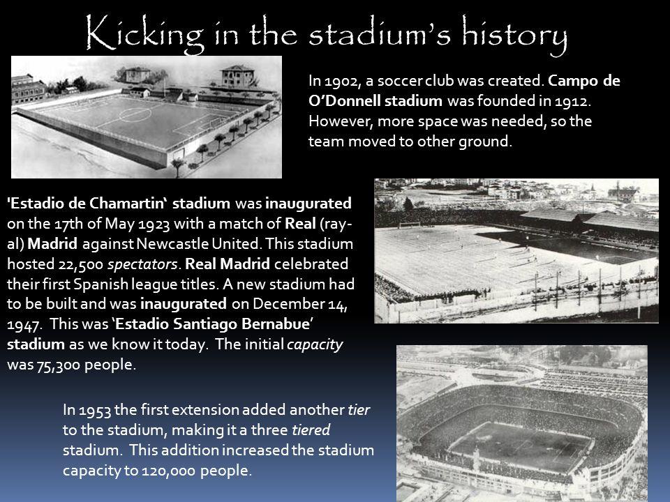 Kicking in the stadium's history