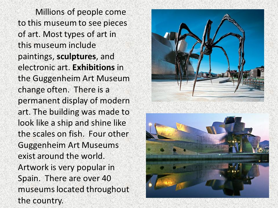 Millions of people come to this museum to see pieces of art