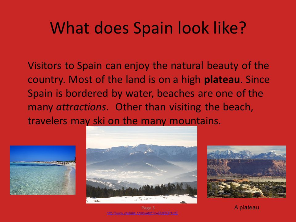 What does Spain look like