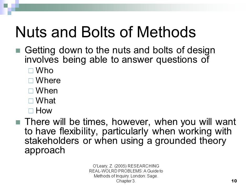 Nuts and Bolts of Methods