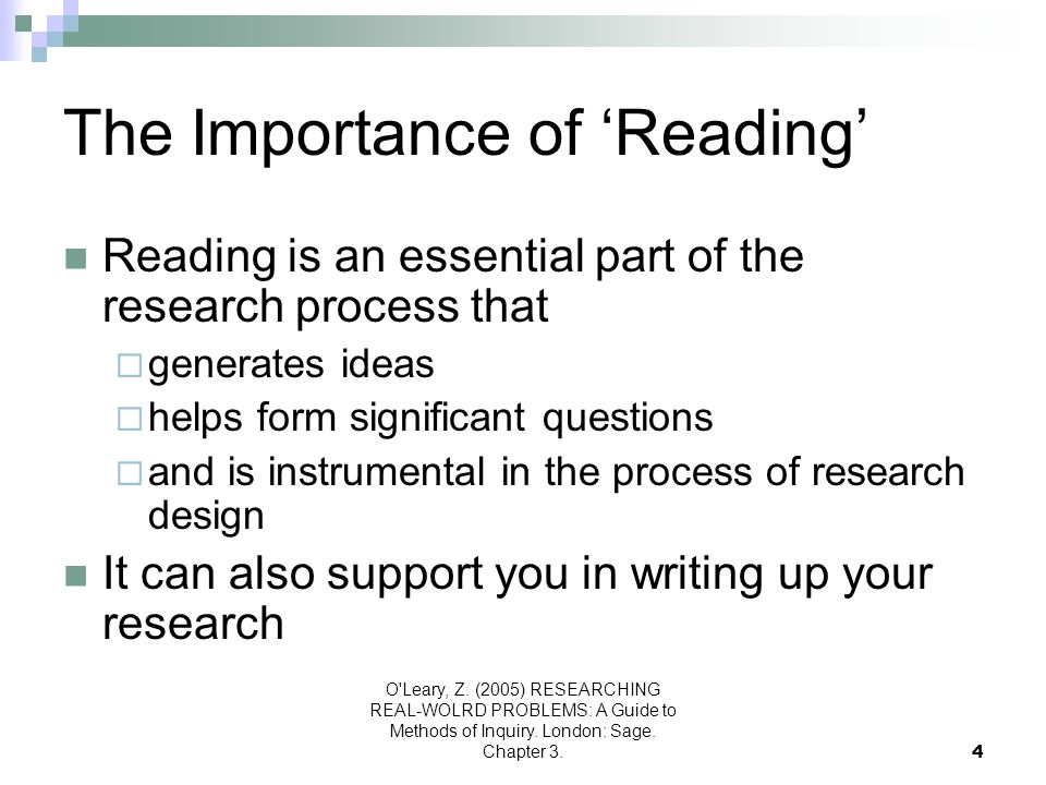 The Importance of 'Reading'