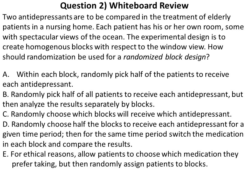 Question 2) Whiteboard Review