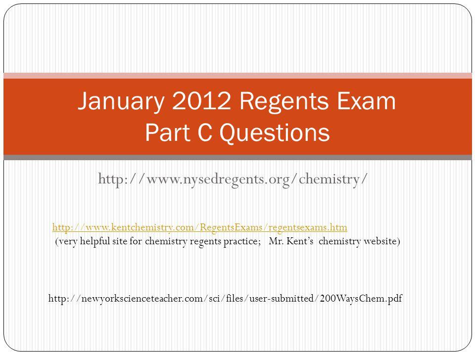 January 2012 Regents Exam Part C Questions