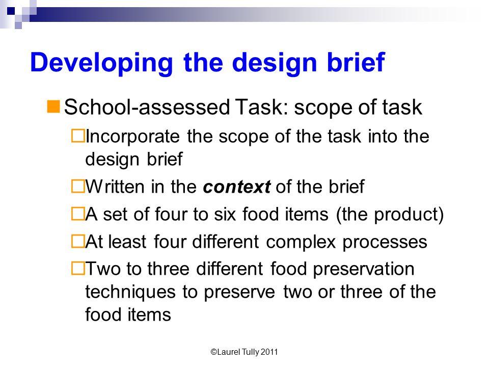 Developing the design brief