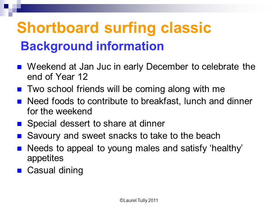 Shortboard surfing classic Background information