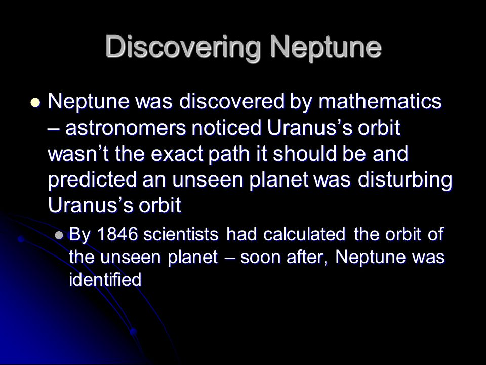 Discovering Neptune