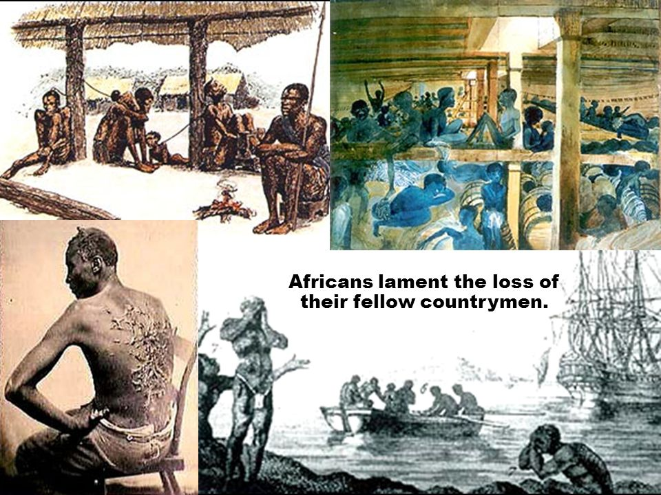 Africans lament the loss of their fellow countrymen.