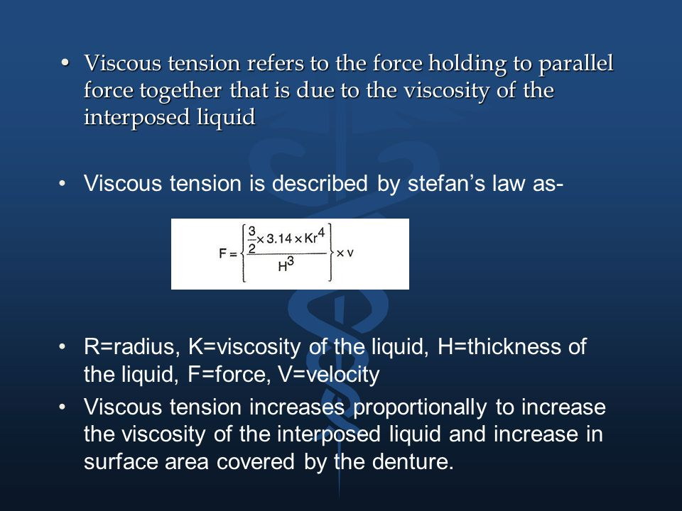 Viscous tension refers to the force holding to parallel force together that is due to the viscosity of the interposed liquid