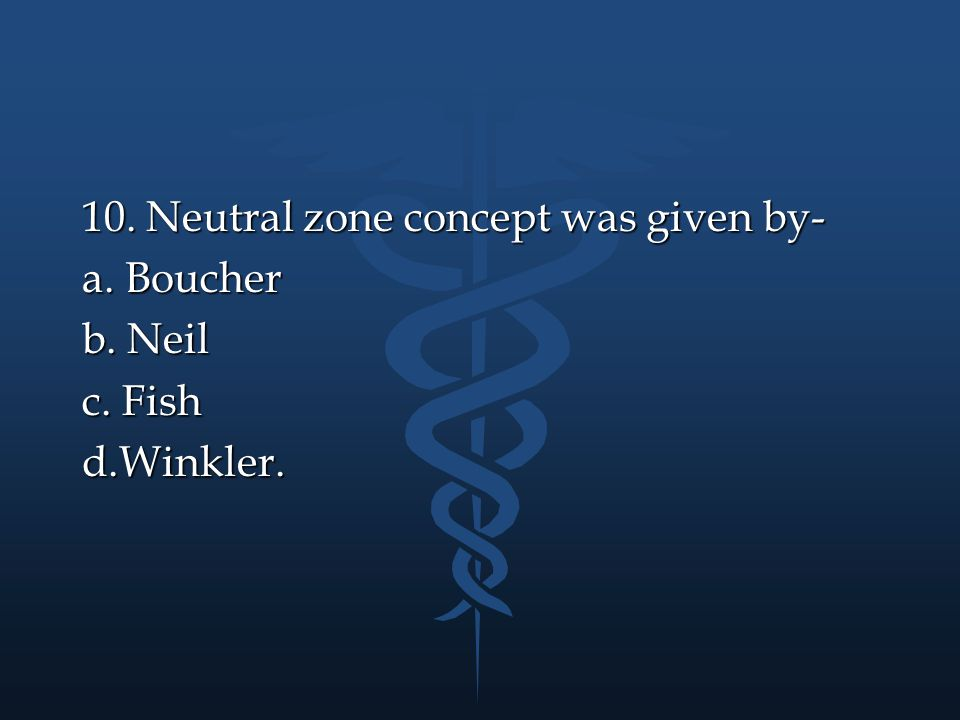10. Neutral zone concept was given by-