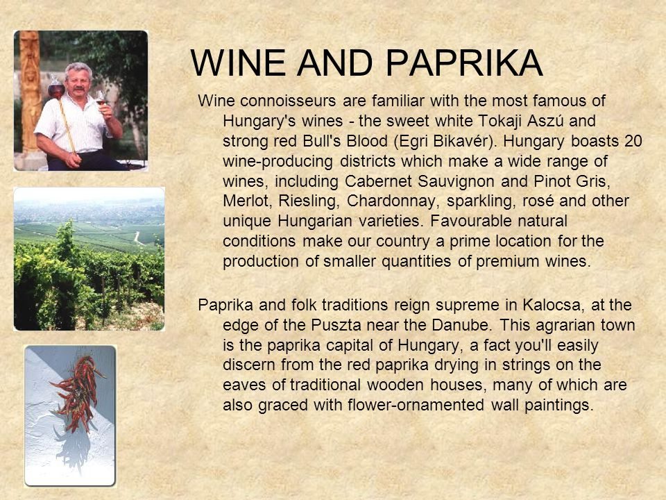 WINE AND PAPRIKA