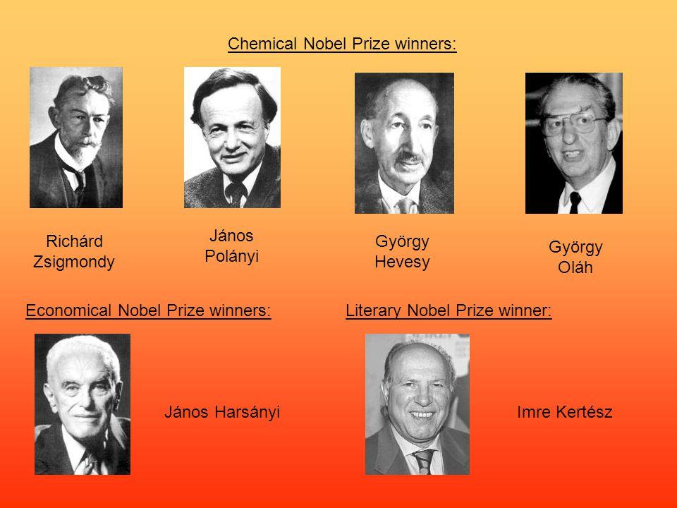 Chemical Nobel Prize winners: