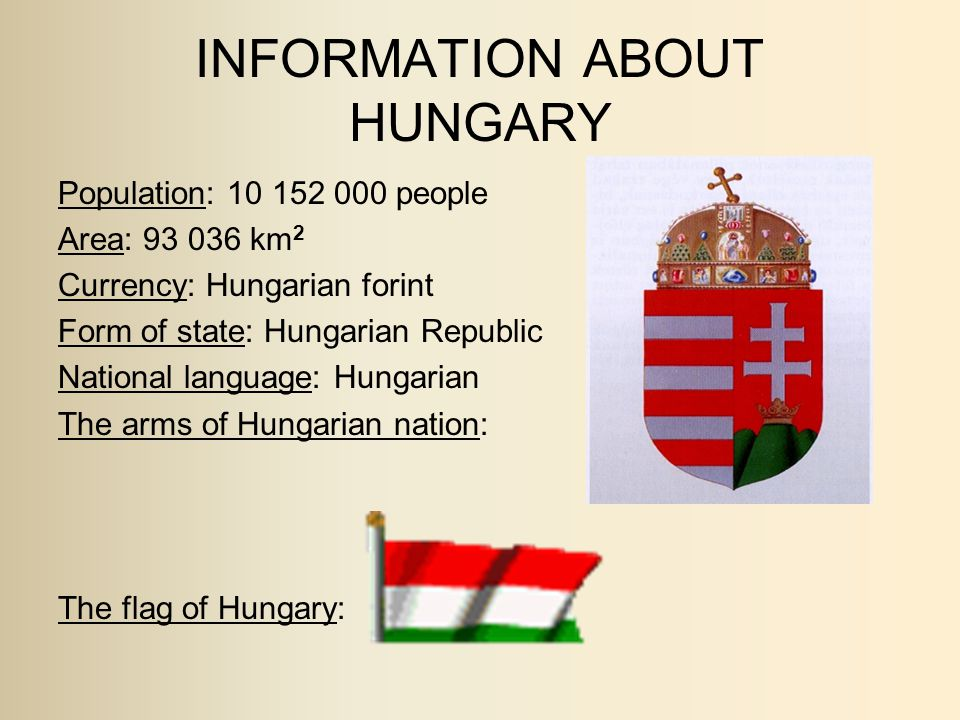 INFORMATION ABOUT HUNGARY
