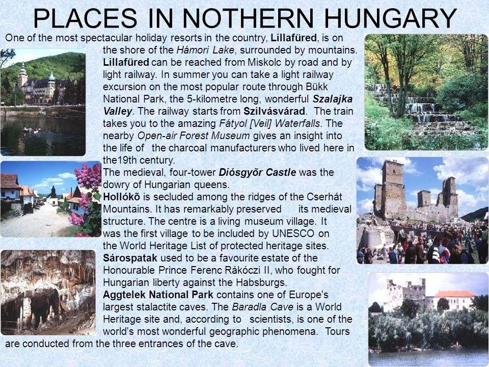 PLACES IN NOTHERN HUNGARY