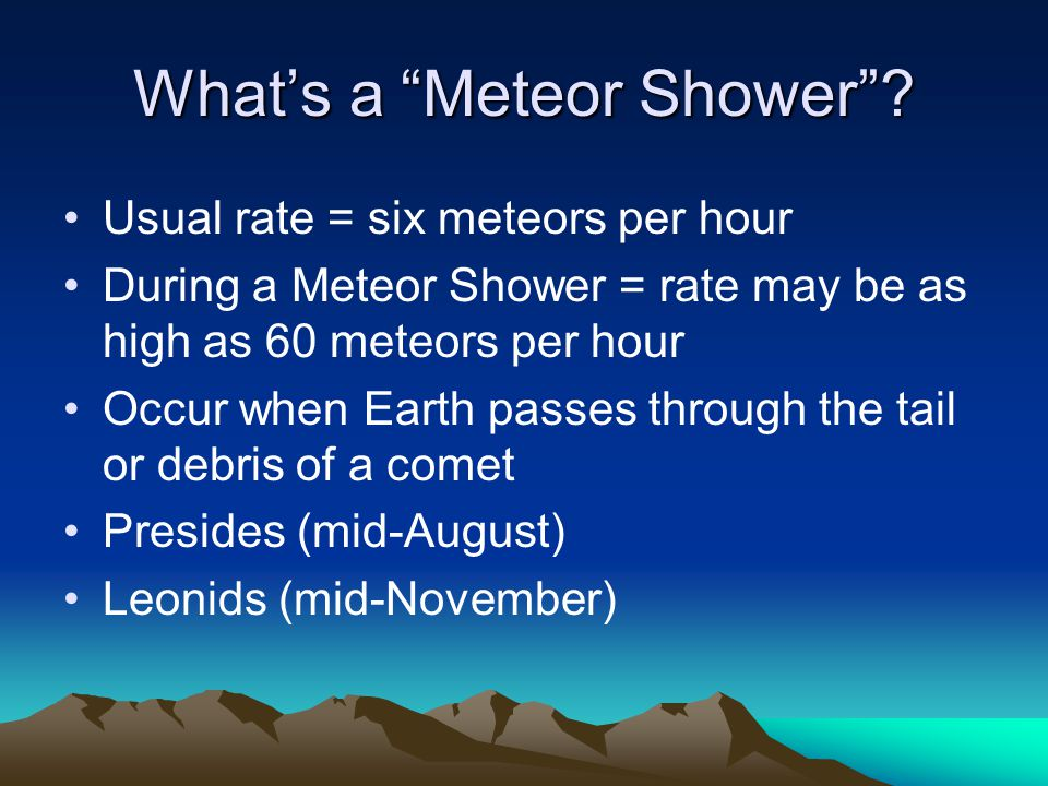What's a Meteor Shower