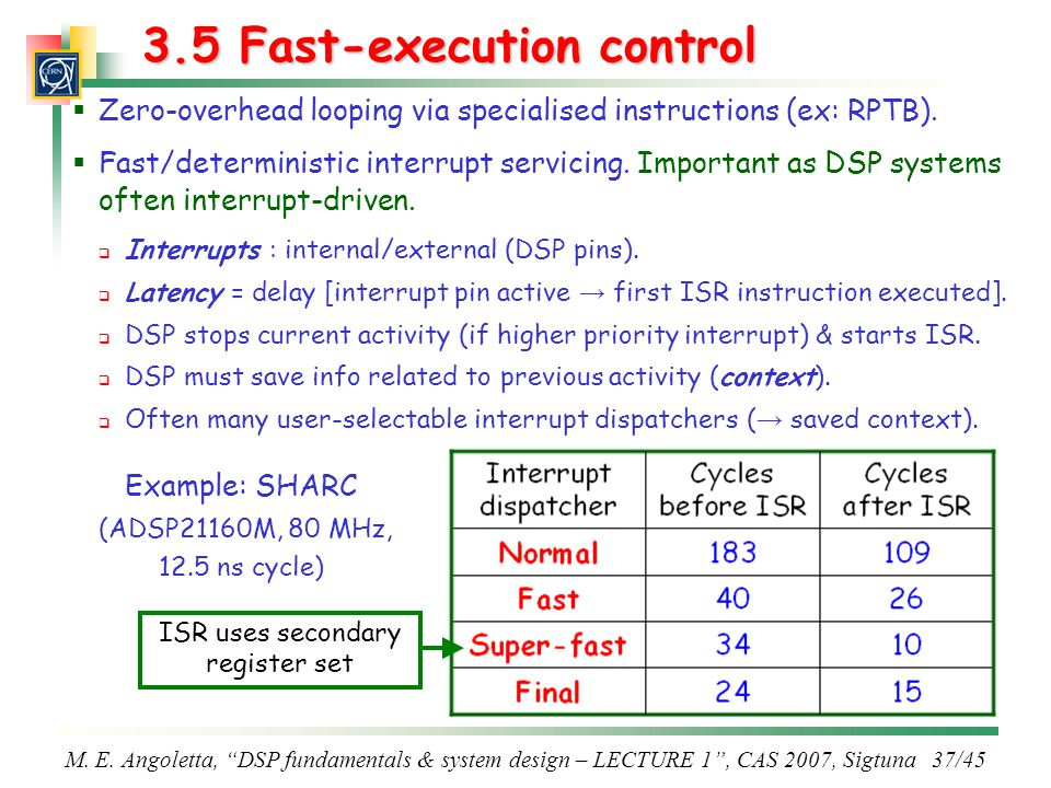 3.5 Fast-execution control