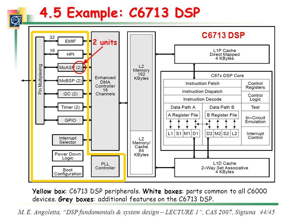 4.5 Example: C6713 DSP C6713 DSP 2 units