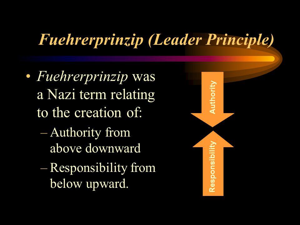Fuehrerprinzip (Leader Principle)