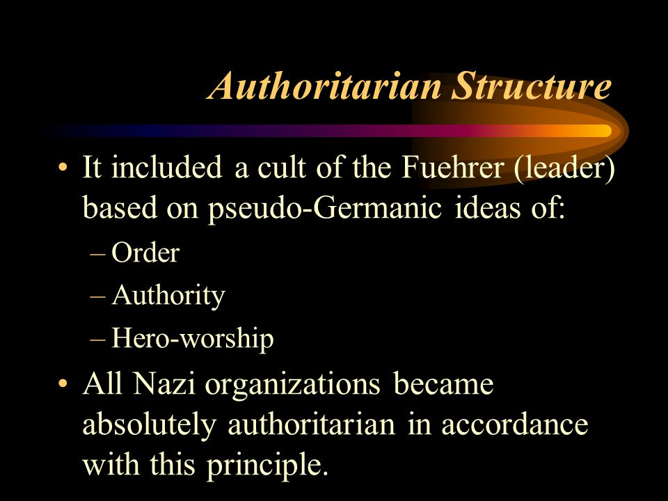Authoritarian Structure