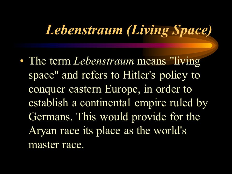 Lebenstraum (Living Space)