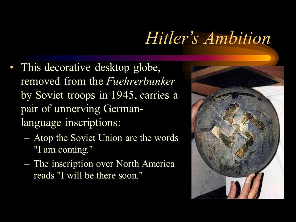 Hitler's Ambition