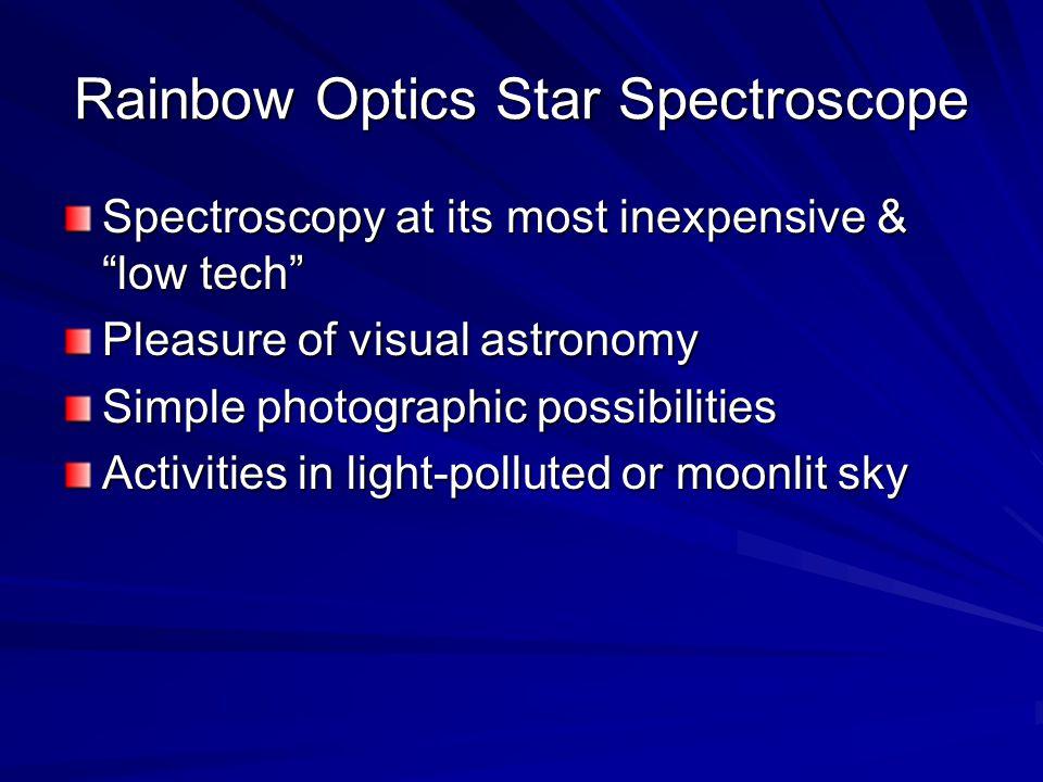 Rainbow Optics Star Spectroscope