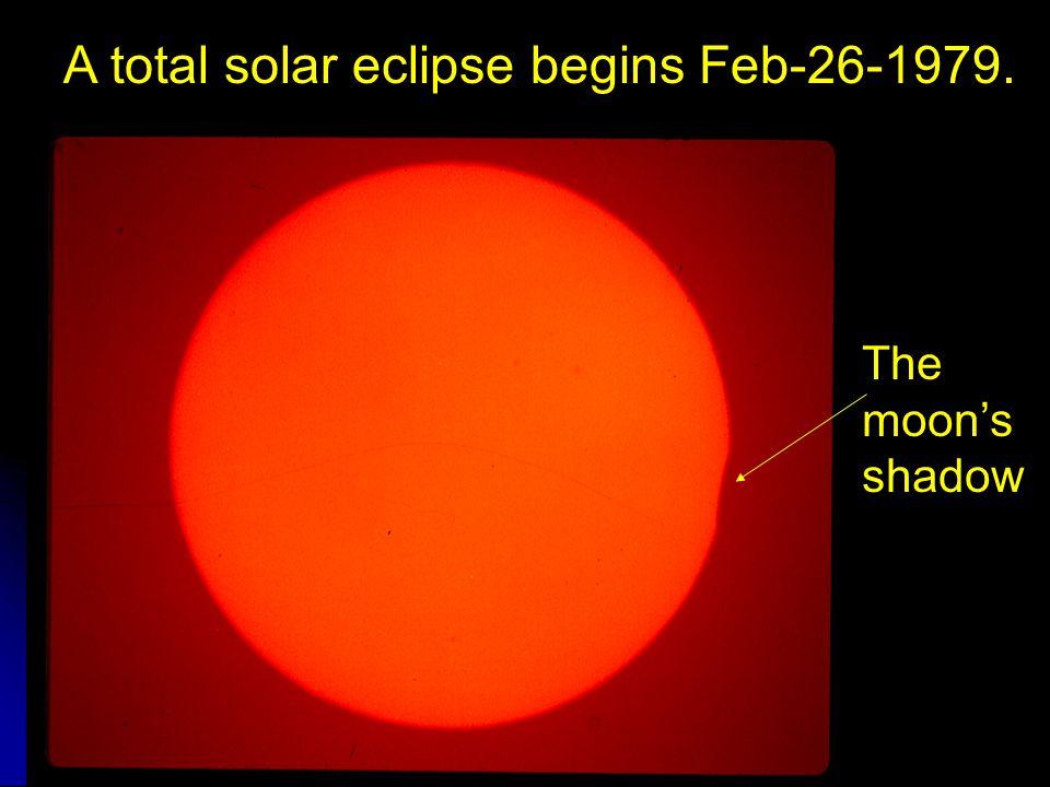 A total solar eclipse begins Feb-26-1979.