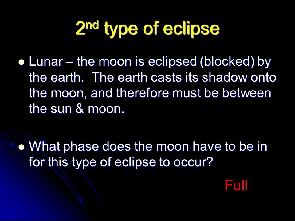 2nd type of eclipse