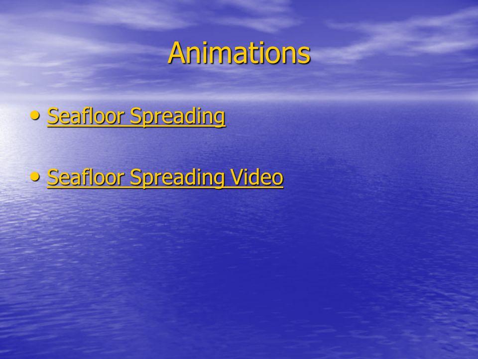 Animations Seafloor Spreading Seafloor Spreading Video