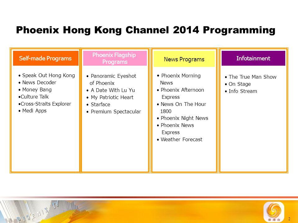Phoenix Hong Kong Channel 2014 Programming