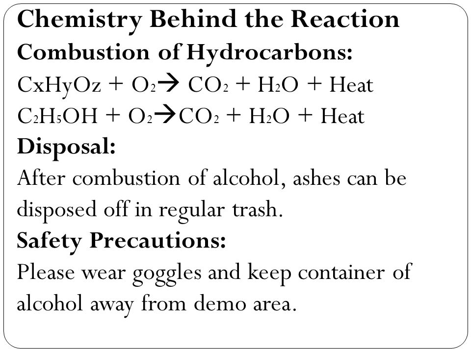 Chemistry Behind the Reaction