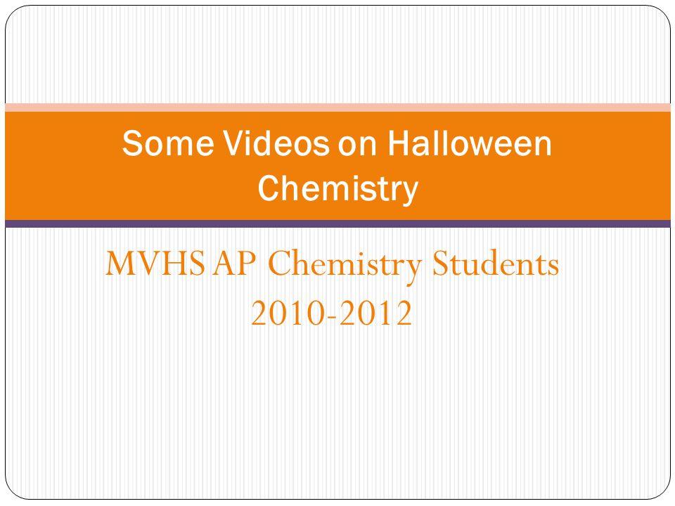Some Videos on Halloween Chemistry