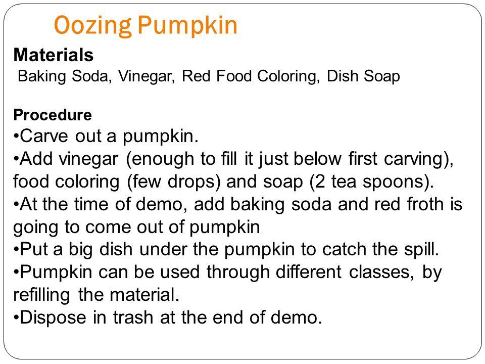 Oozing Pumpkin Materials Carve out a pumpkin.