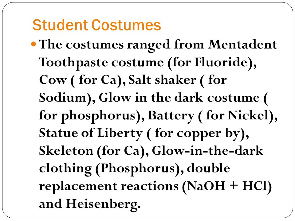 Student Costumes