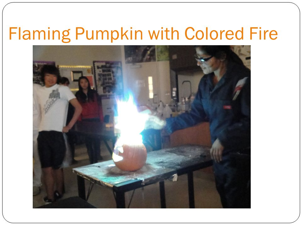 Flaming Pumpkin with Colored Fire