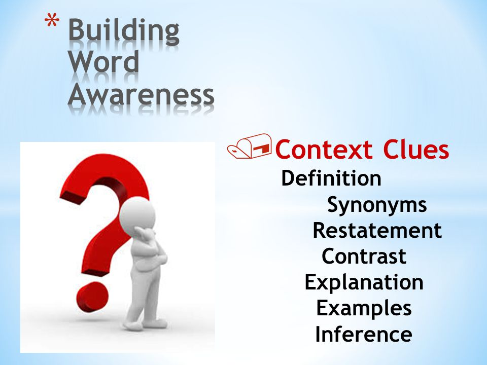Building Word Awareness