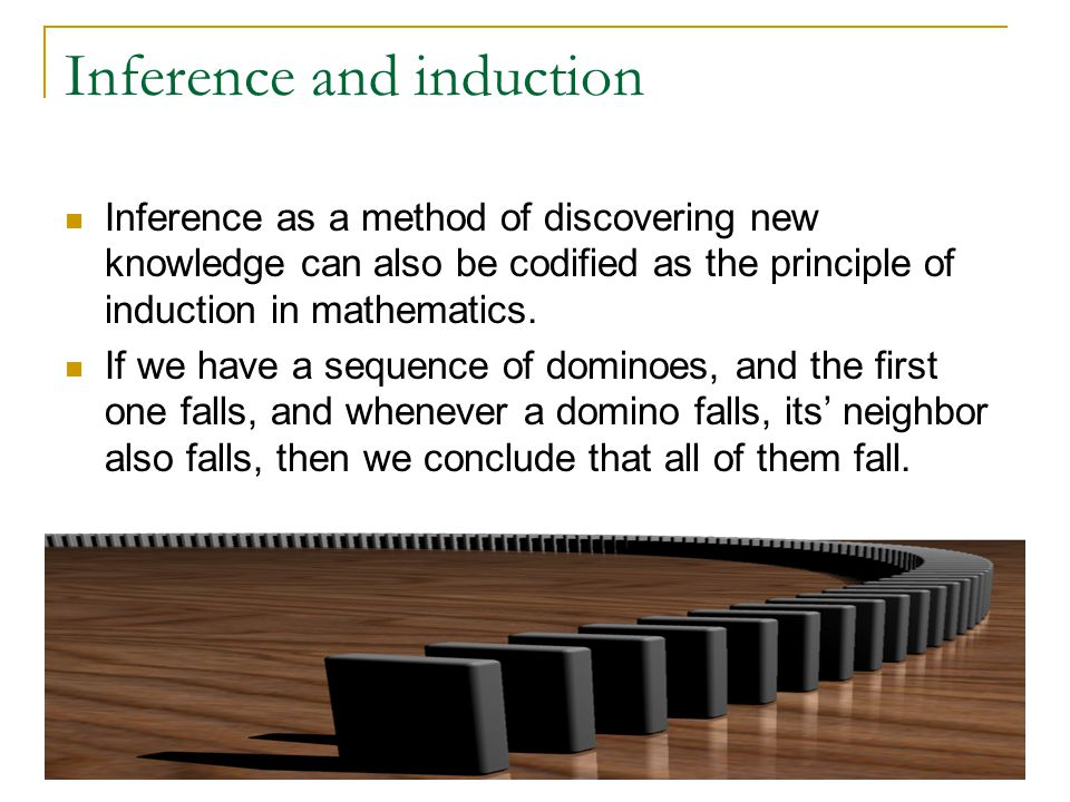 Inference and induction