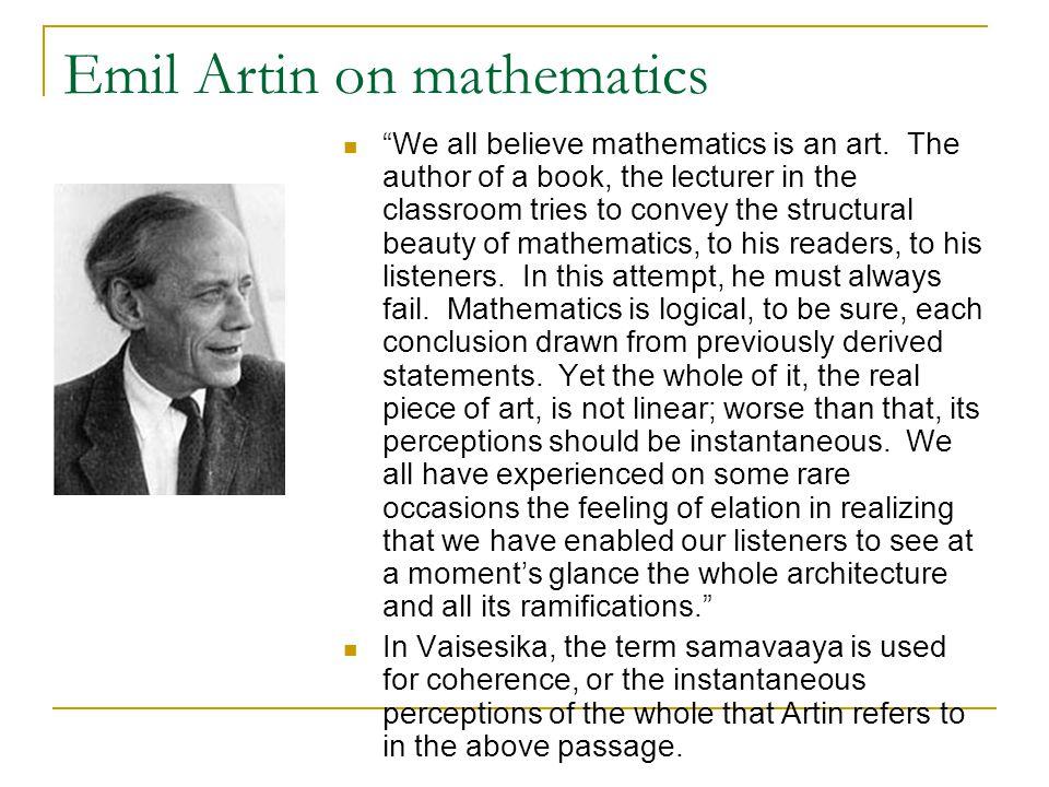 Emil Artin on mathematics